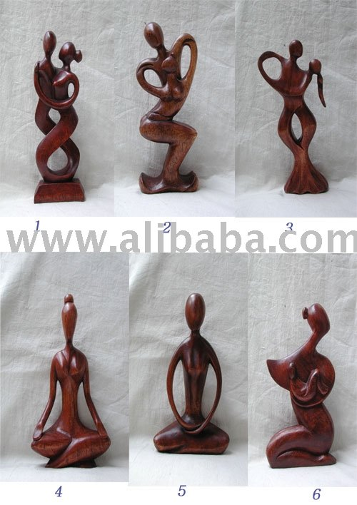 Wood Abstract Statue