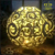 3D Outdoor Lighted Planet Christmas Ball Metal Fiberglass Sculpture LED Sphere Decoration