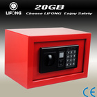 Red mini wall safe hotel safe for sale