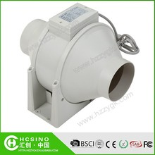 CE/RoHS Industrial Vortex Low Noise Ventilation Mini / Small Centrifugal Fan, Electric Round Inline Fan