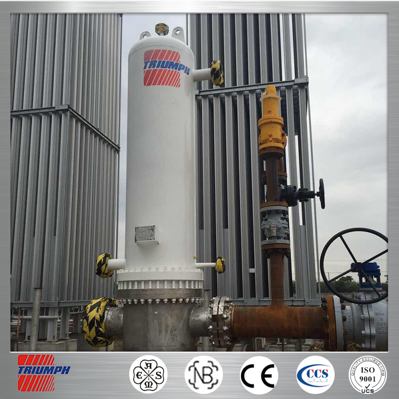 horizontal type pressure vessel lng skid mounted oil gas water three phase separator