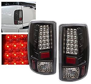 Rxmotor Chevy Suburban Tahoe GMC Yukon XL Denali Truck Replacement Led Brake Tail Lights Lamps for 2000 2001 2002 2003 2004 2005 2006 (Black)