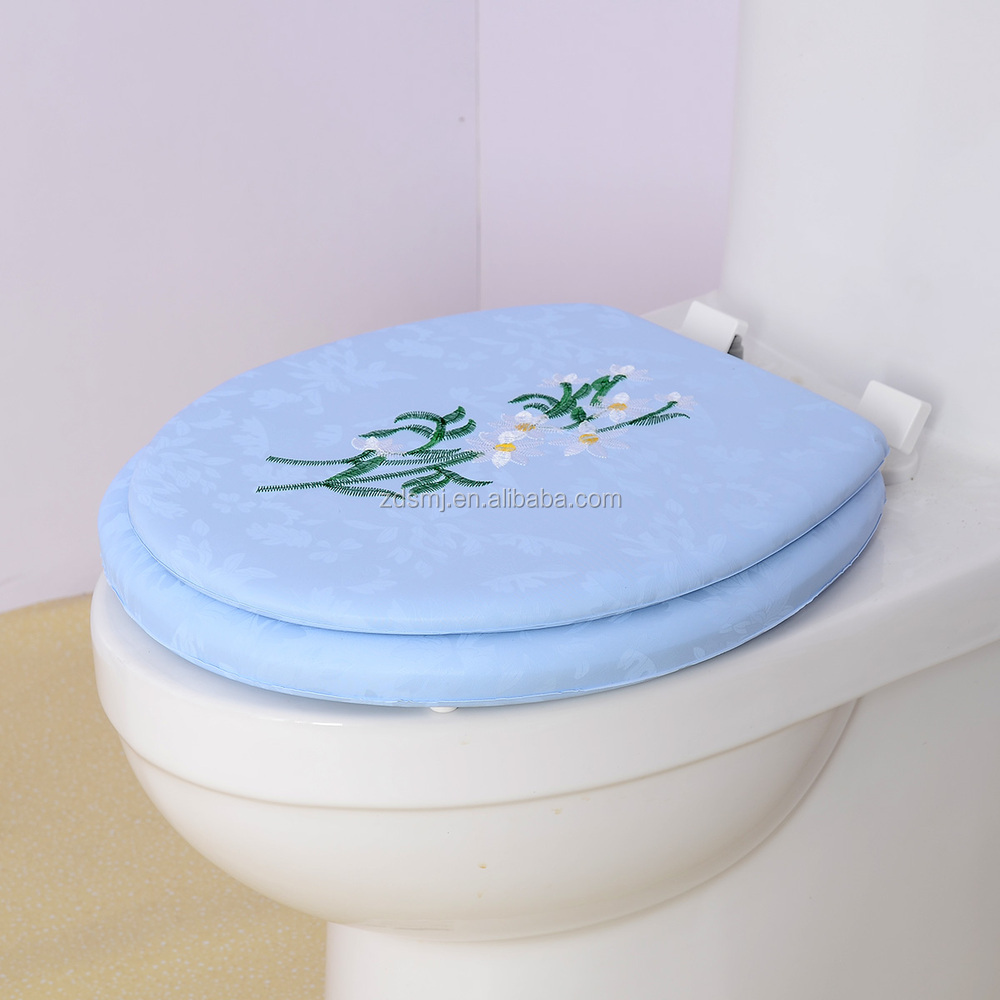 padded toilet seat cover. Embroidery And Printed Cushion Toilet Seat Pad  Plastic Adult And Printed Cushion Toilet Seat Pad Plastic Adult