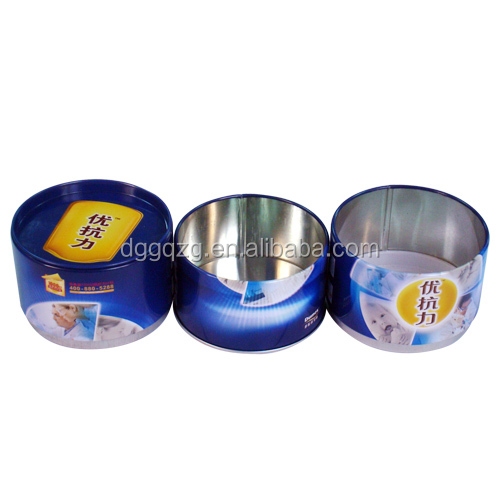 Wholesale custom empty Round can tea metal tin boxes