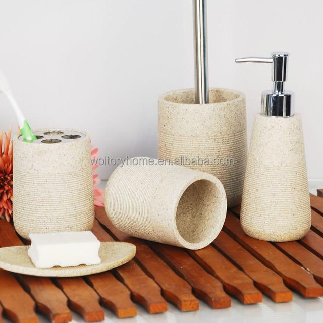 Polyresin Bathroom Accessories Set/artificial Stone Bathroom Accessories/ Bath Set