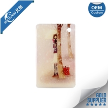 Wholesale clear plastic case with handle with printing die-cut card