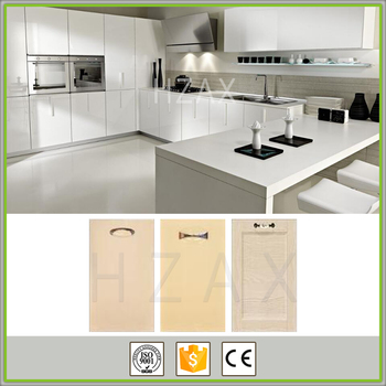 modern high gloss pvc thermofoil kitchen cabinets