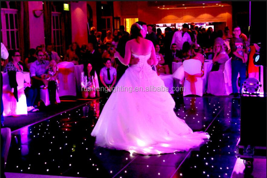 Wholesale price remote control white  starlit led dance floor for wedding
