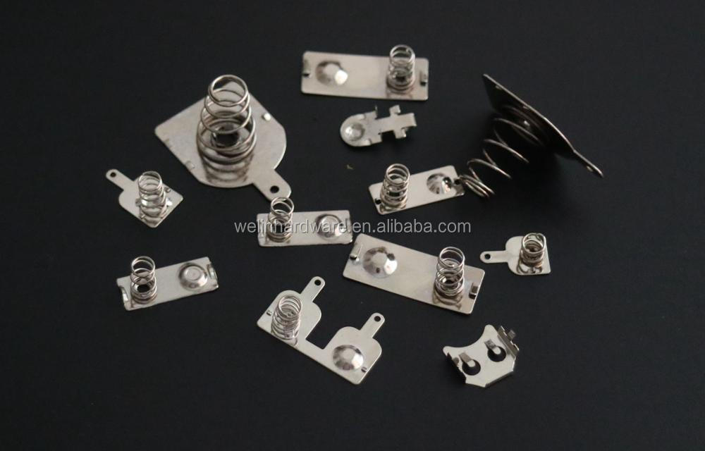 Stamping aa battery holder for CR2032,CR1220 with nickel plating