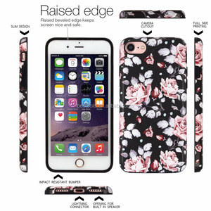 Wholesale IMD floral mobile accessories for iPhone 7 case