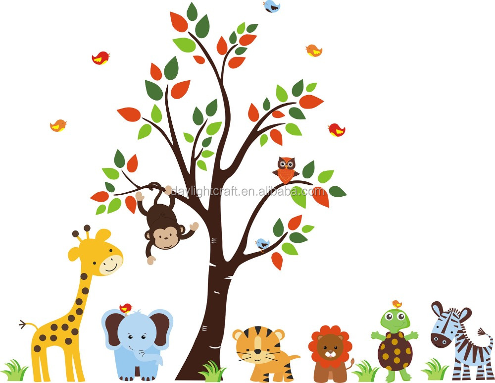 Mode Lion Noah' arche étanche & Transparent PVC enfants Wall Sticker