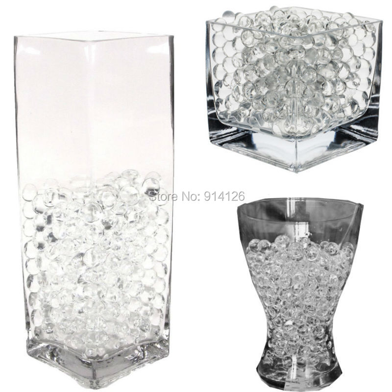 Buy 5000pcs Bag Pearl Clear Vase Filler Shaped Crystal Soil Water