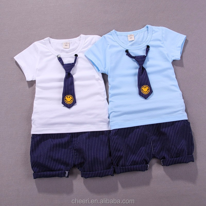 f2c2be75cfe3a HT-CCS top vente chaude enfants bébé garçon vêtements ensembles pour summer  infant bébé garçon