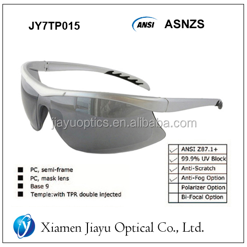 safety glasses, safety polarizer option, goggles bifocal