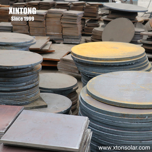 XINTONG galvanized pipe light pole base plate flanges detail dwg