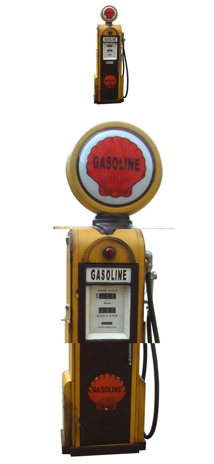 Handmade gas pump model storage box home decor