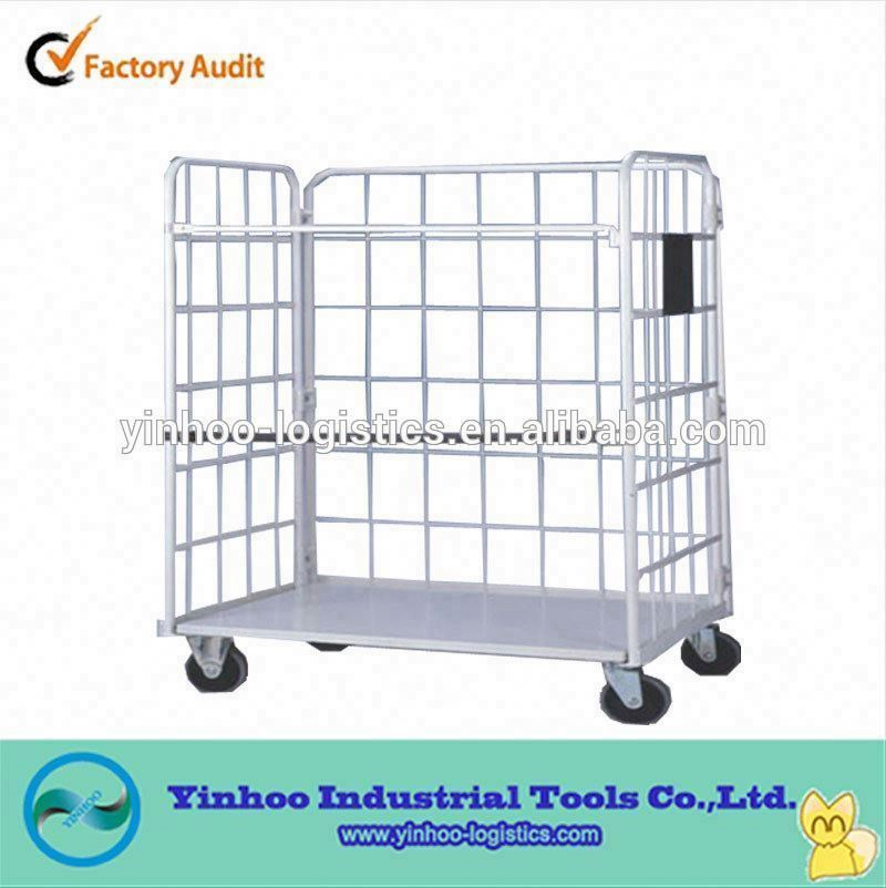 folding/foldable table trolley /cage trolley with belt