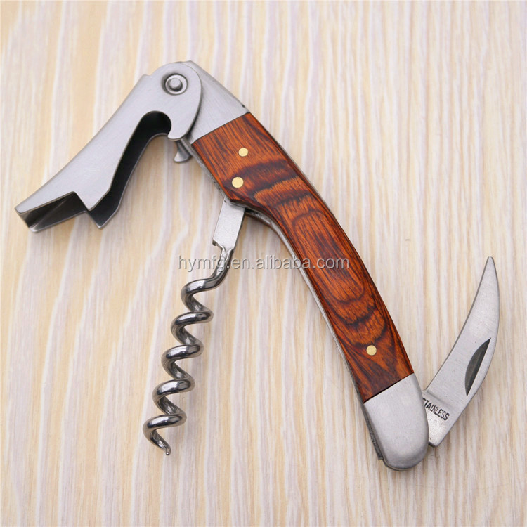 Good Quality wooden handle wine Bottle opener