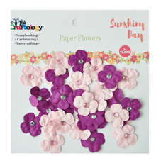Trevo Flor de Papel Para Mini Craft <span class=keywords><strong>Scrapbook</strong></span> Embelezamento Decorar