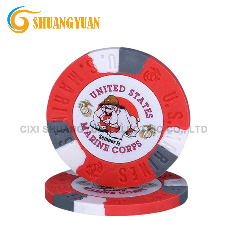 9.5g Tricolor Pure Klei US Marines Poker Chip