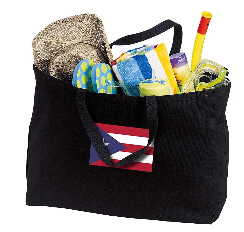 JUMBO Puerto Rico Tote Bag or Large Canvas Puerto Rico Flag Shopping Bag