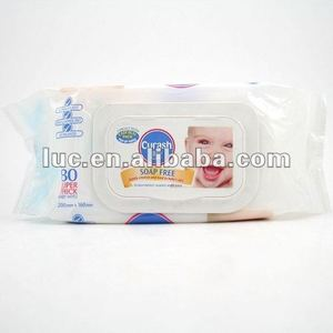 80pcs soap free baby wet wipes/tissue in bag