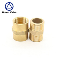 "Gutentop China factory directly 1/2"" bsp/npt male female pipe fittings straight nipple brass"