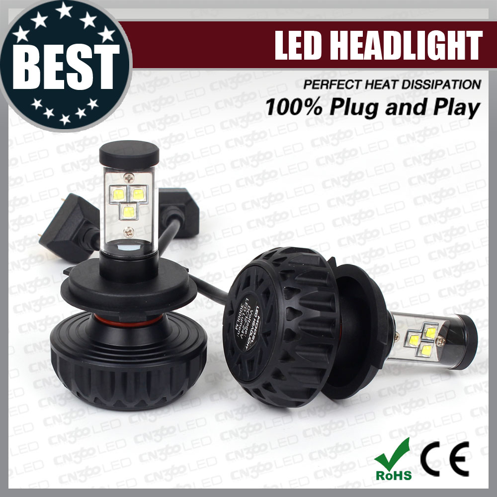 Super bright plug and play Cree XM L2 led headlight motorcycle