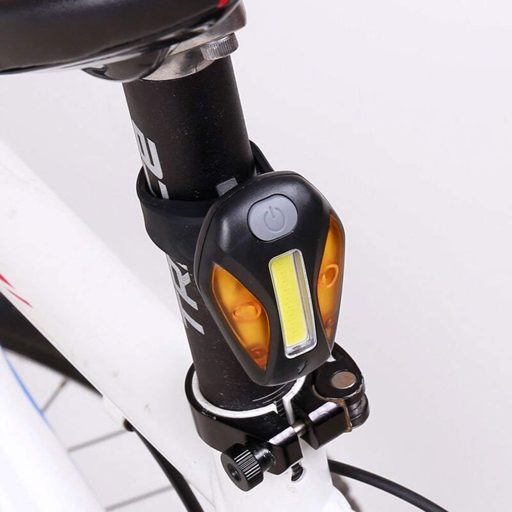 Mercery USB Rechargeable Waterproof Bike Tail Light Super Bright LED Bicycle Rear Light Easily Clips on Red Taillight Powerful Optimum Cycling Safety Mountain Bike/Road Bike/Racing Bike Riding Equipm