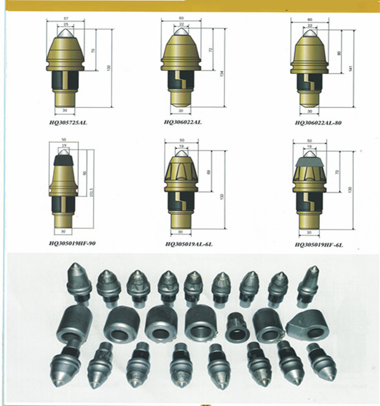 High wear resistance welding teeth auger bits rotary digging teeth with the best price