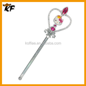 hot sale lovely kitty rhinestone party fairy wand for kids