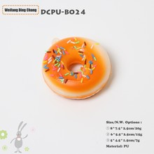 Colorful Custom Kawaii Donut Shaped Squishy Slow Rising Anti Stress Toy Balls