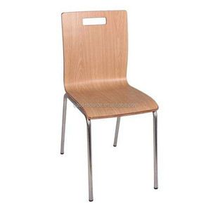 simple design metal plywood stackable dining chair