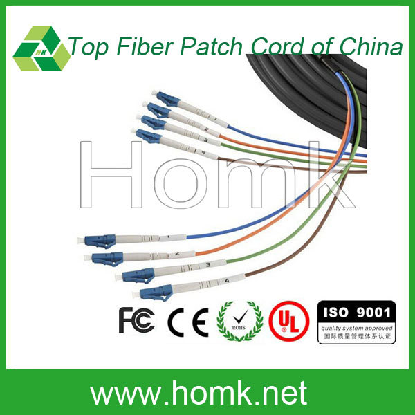Breakout Optical Fiber Cable LC Field Tactical Fiber Optic Cable Outdoor patch cord