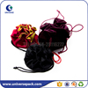 Promotional durable drawstring velvet tote bag for candy