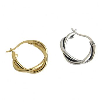 Gold Filled Jewelry Women 925 Sterling Silver Small Hoop Kundan Earring