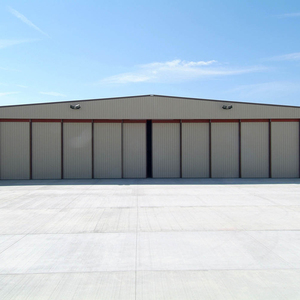 Custom design durable folding automatic industrial aircraft roller hangar door