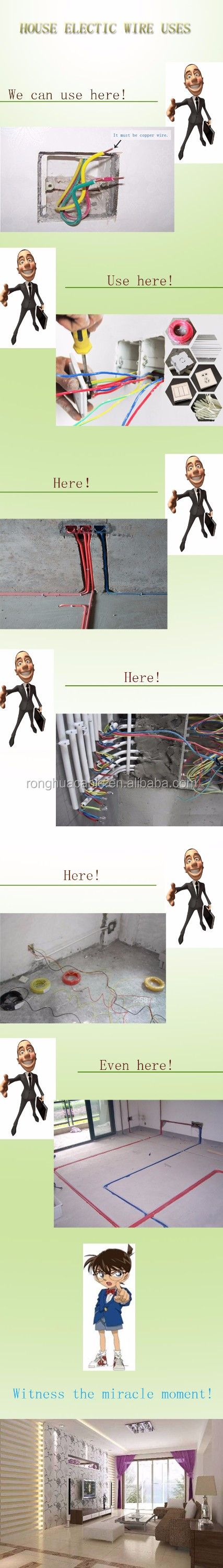 Copper Cable 15 Mm 25mm 4mm 6mm 10mm House Wiring Electrical Uses Single Core