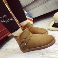 Manufacturers cheap winter men warm flat shoes women ankle boots