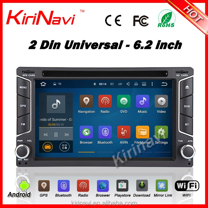 "KiriNavi 2Din Quad core Universal Android 5.1 Quad-Core 6.2"" Multimedia Car GPS with Mutual Control Easy Connection"
