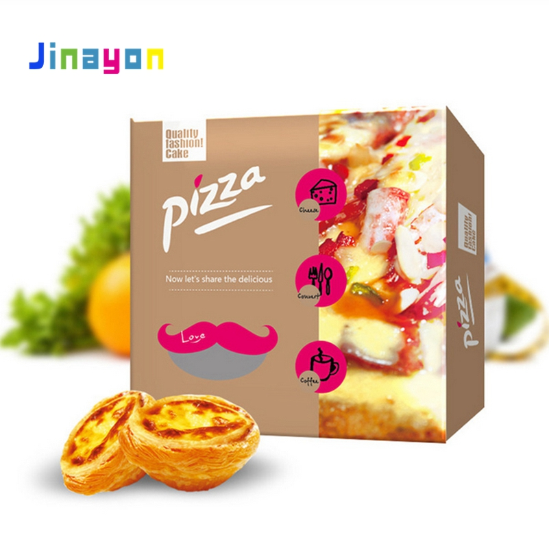 Jinayon takeaway 6-14 Inch Corrugated Printed Rectangular Pizza Box Customized Logo Paper Box for Pizza