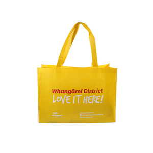 Custom Logo Eco Friendly Tote Shopping Carry Fabric PP Laminated Recyclable Non Woven Bag