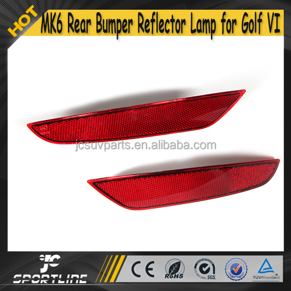MK6 ABS 2pcs/pair Auto Car Rear BUmper Reflector Light for VW Golf6 Golf VI 09-13