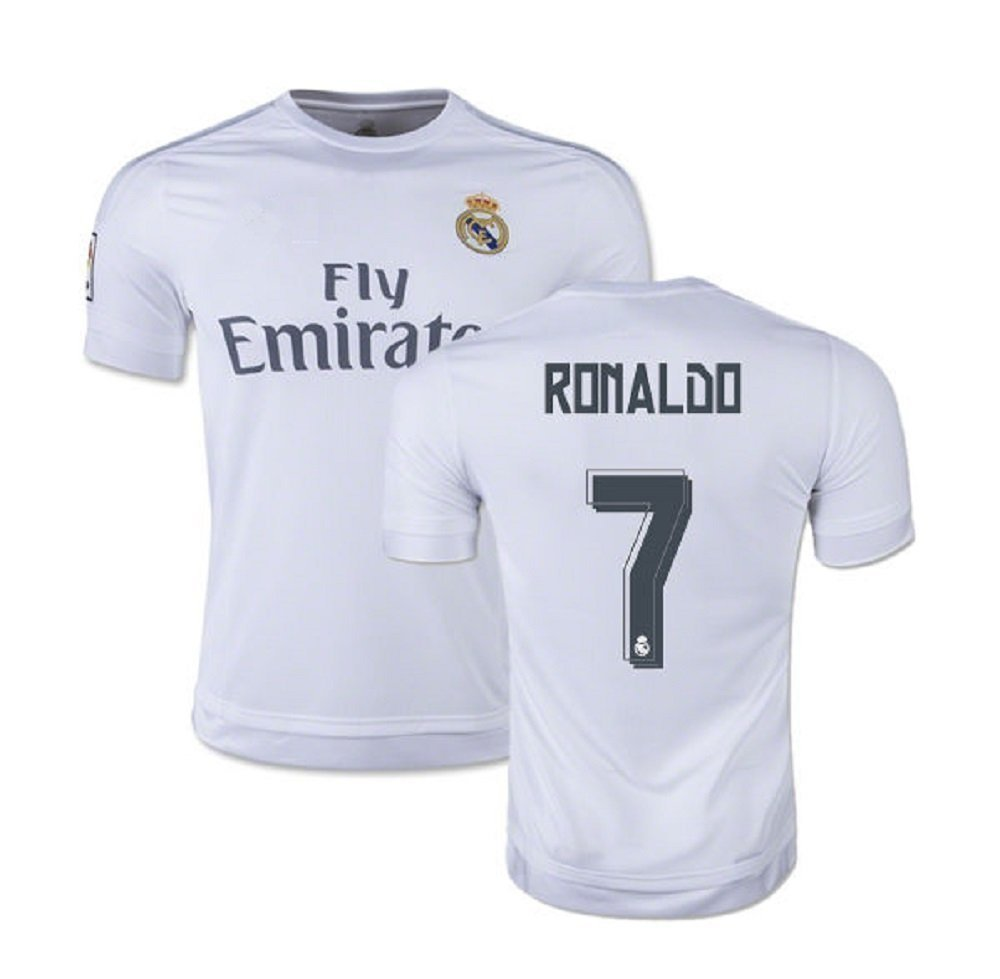 sports shoes 8d5fd b6795 Buy Ronaldo #7 Real Madrid Home Kids Soccer Jersey Kit with ...
