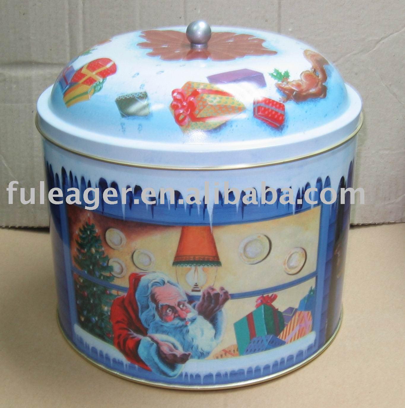 Christmas Cookie Tin Box,Biscuit Tin Case - Buy Tin Box,Tin Can ...