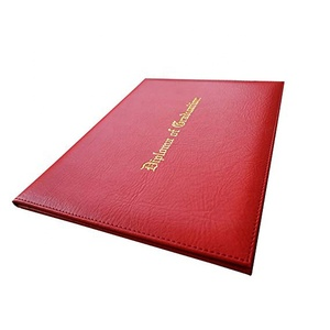 Customized A4 Leather Certificate Folder/Diploma Cover