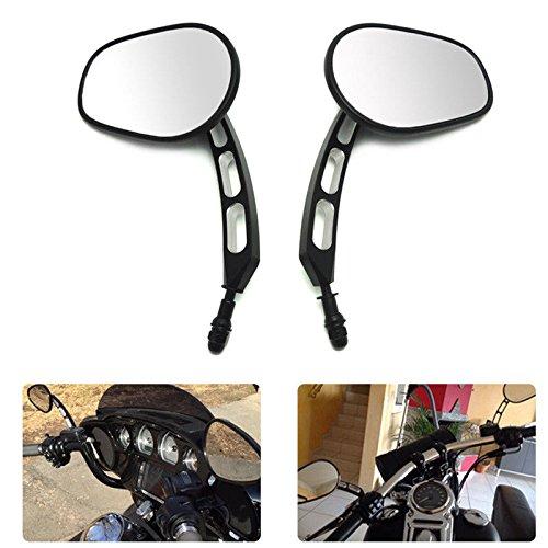 Motobiker 1 Pair Motorcycle Rear View Side Mirrors For Harley Street Bob FXDB Fat Boy Iron 883 XL883N Sportster 1200 Custom XL1200C
