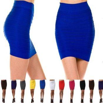 2017 Mode OEM Bandage Haute ou Taille Basse Extensible MINI Jupe Mince Moulante  Courte Jupe 6d014d23a0a0