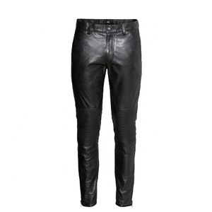 Custom Mens Leather Pants Men Black Leather Biker Pants Sexy Leather Pants Men Wholesale