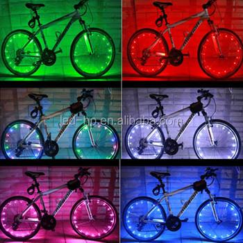 multi kleurige fiets licht geleid wiel verlichting
